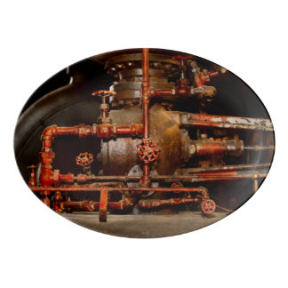 Steampunk - Pipe dreams Porcelain Serving Platter