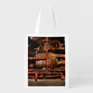 Steampunk - Pipe dreams Reusable Grocery Bag
