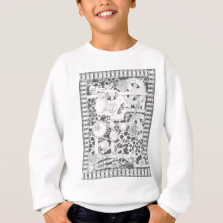 steampunk pipes, flowers and skeleton sweatshirt