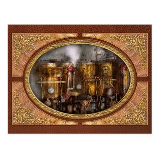 Steampunk - Plumbing - Distilation apparatus Postcard