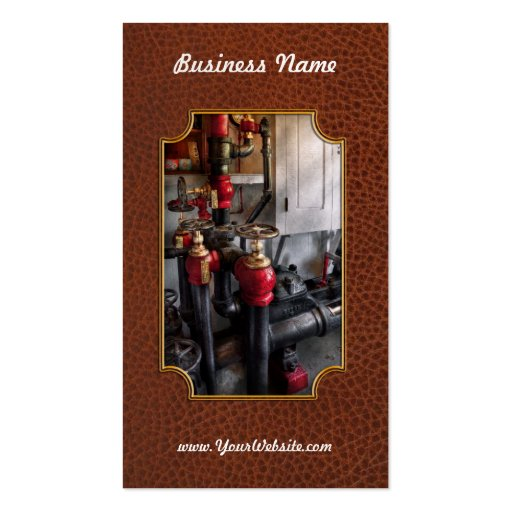 Steampunk - Plumbing - Turn the valve Business Cards