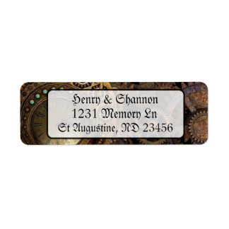 Steampunk Pocket Watch Renaissance Address Labels