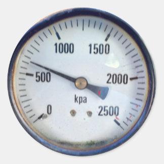 Steampunk Pressure Gauge Classic Round Sticker