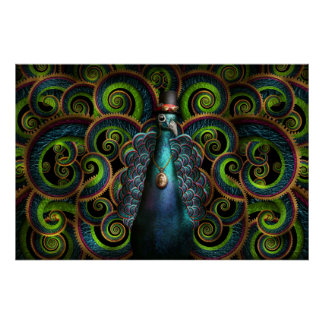 Steampunk - Pretty as a peacock Poster