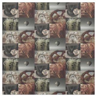 Steampunk Printed Cotton Fabric