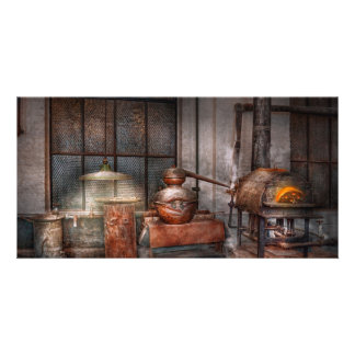 Steampunk - Private distillery Photo Greeting Card