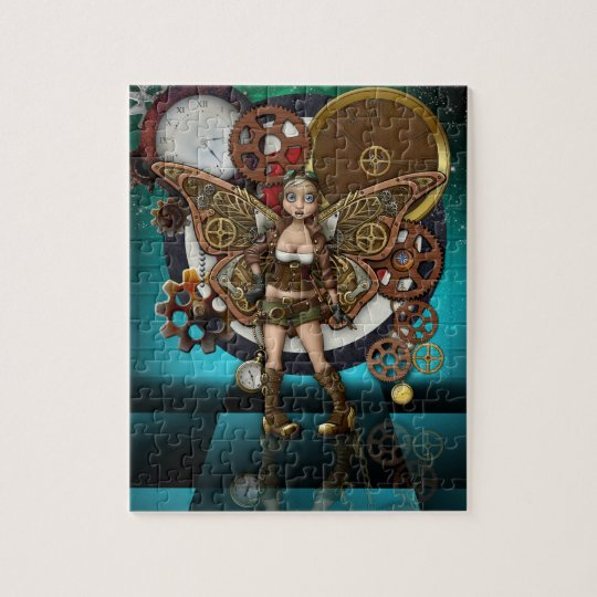 Steampunk Puzzle with Gift Box