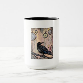 """Steampunk Raven with Clocks"" Mug"