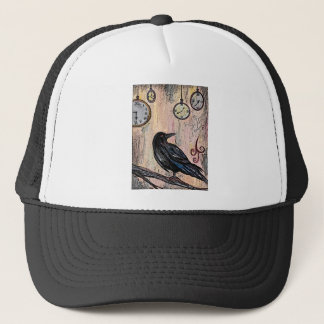"""Steampunk Raven with Clocks"" Trucker Hat"
