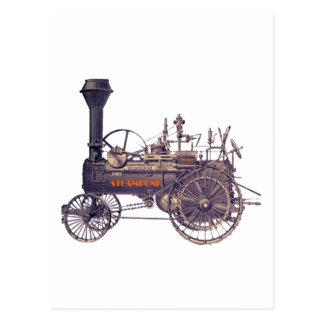 Steampunk Rebel Steam Engine Postcard