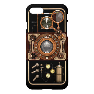 Steampunk Retro Stylish Black Vintage Camera iPhone 8/7 Case