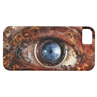 steampunk robot eye iphone case