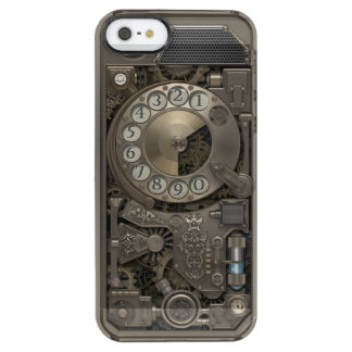 Steampunk Rotary Metal Dial Phone. Clear iPhone SE/5/5s Case