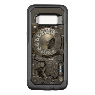 Steampunk Rotary Metal Dial Phone. OtterBox Commuter Samsung Galaxy S8 Case