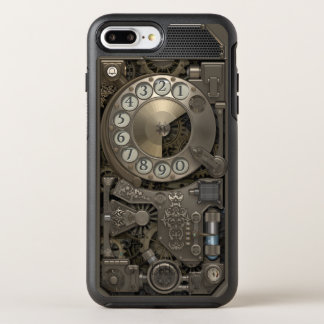 Steampunk Rotary Metal Dial Phone. OtterBox Symmetry iPhone 8 Plus/7 Plus Case