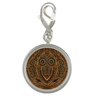 Steampunk  Round Charm Or Charm With Bracelet