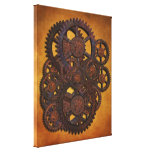 Steampunk Rusty Gears Stretched Canvas Prints