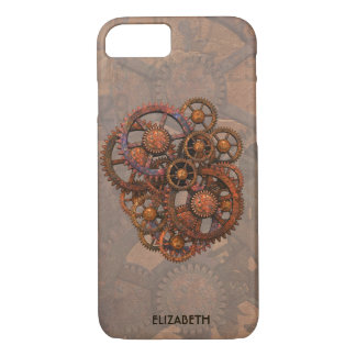 Steampunk Rusty Metal Gears With Shadows iPhone 8/7 Case