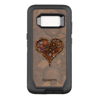 Steampunk Rusty Vintage Heart From Metal Gears OtterBox Defender Samsung Galaxy S8 Case
