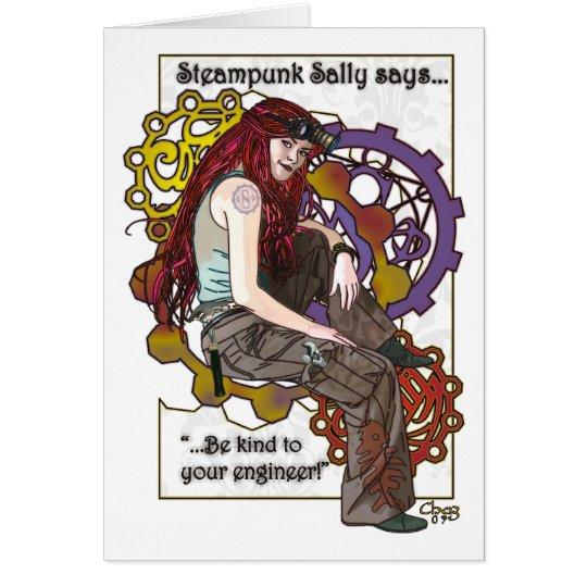Steampunk Sally Card