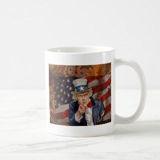 Steampunk Sam Patriotic US Flag Design Coffee Mug