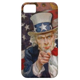 Steampunk Sam Patriotic US Flag Design iPhone 5 Cover