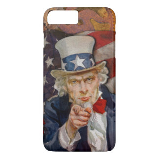 Steampunk Sam Patriotic US Flag Design iPhone 8 Plus/7 Plus Case
