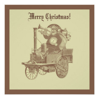 Steampunk santa Claus - Merry Christmas Poster