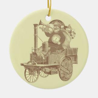 Steampunk Santa - vintage merry christmas Ceramic Ornament