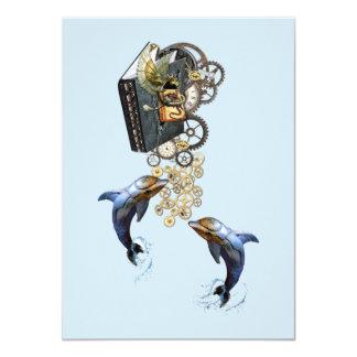 Steampunk sculpture -Art Trendy Card