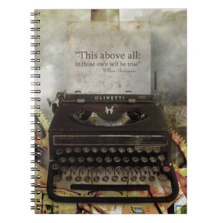 Steampunk Shakespeare Quote Hardcover Notebook