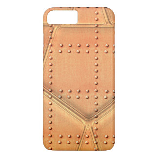 Steampunk Simulated Metal Background With Rivets iPhone 7 Plus Case