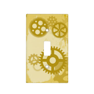 Steampunk Single Toggle Light Switch Cover