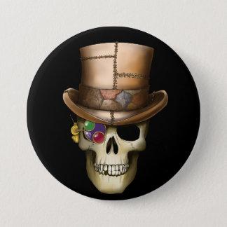 Steampunk Skull 3 Inch Round Button