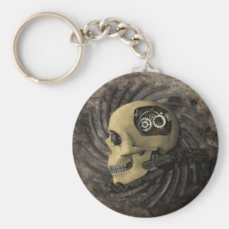 Steampunk Skull Keychain