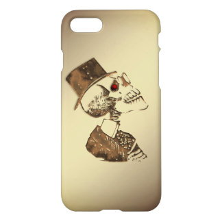 Steampunk Skull on Gold iPhone 8/7 Case