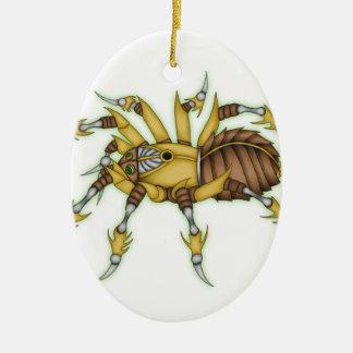 steampunk spider ceramic oval ornament