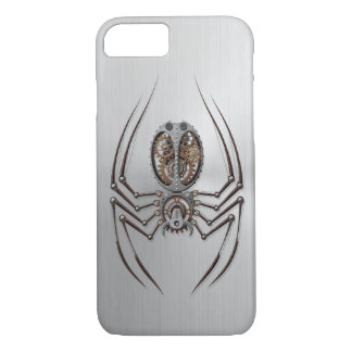 Steampunk Spider with Stainless Steel Effect iPhone 7 Case