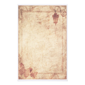 Steampunk Stationery - Lamppost and Butterfly