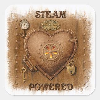 Steampunk Steam Powered Heart Sticker