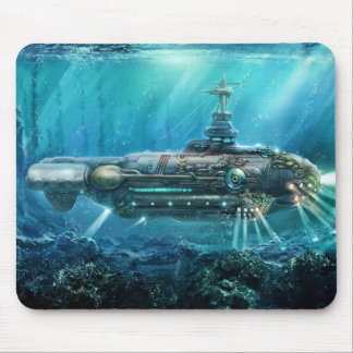 Steampunk Submarine Mouse Pad
