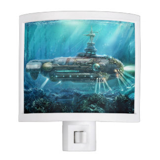 Steampunk Submarine Night Light