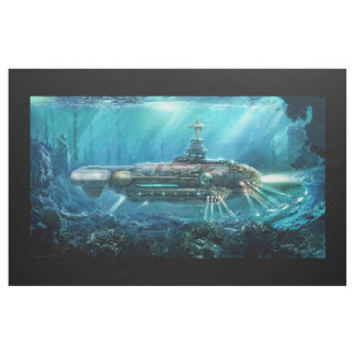 Steampunk Submarine Tapestry Fabric