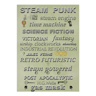 Steampunk Subway Art Poster