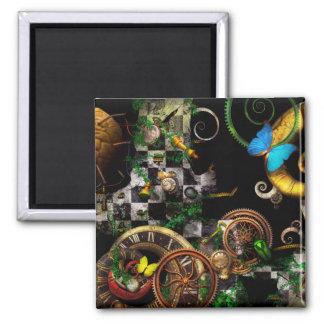 Steampunk - Surreal - Mind games Square Magnet