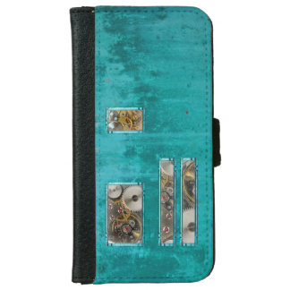 Steampunk Teal iPhone 6 Wallet Case
