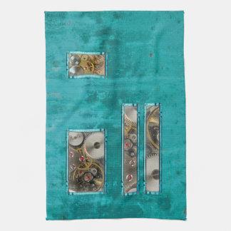 Steampunk Teal Kitchen Towel