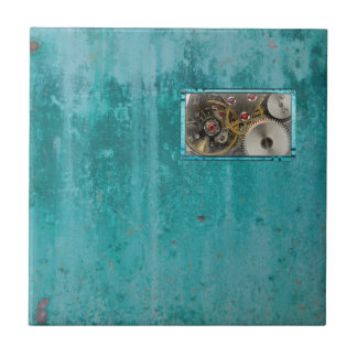 Steampunk Teal Tile