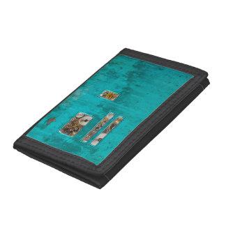 Steampunk Teal Tri-fold Wallet