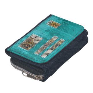 Steampunk Teal Wallet